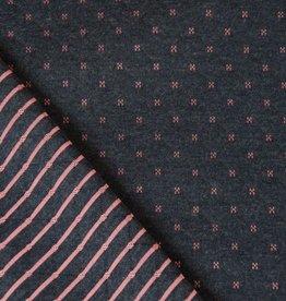 Hilco Quilt lin grijs roze