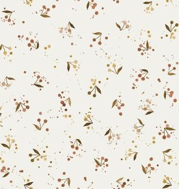 Family Fabrics Golden cherries