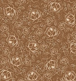 Family Fabrics Copper roses polin