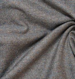 Visgraat bruin lichtblauw