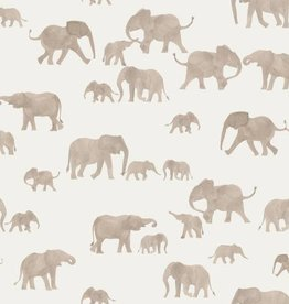 Family Fabrics Elephants French Terry