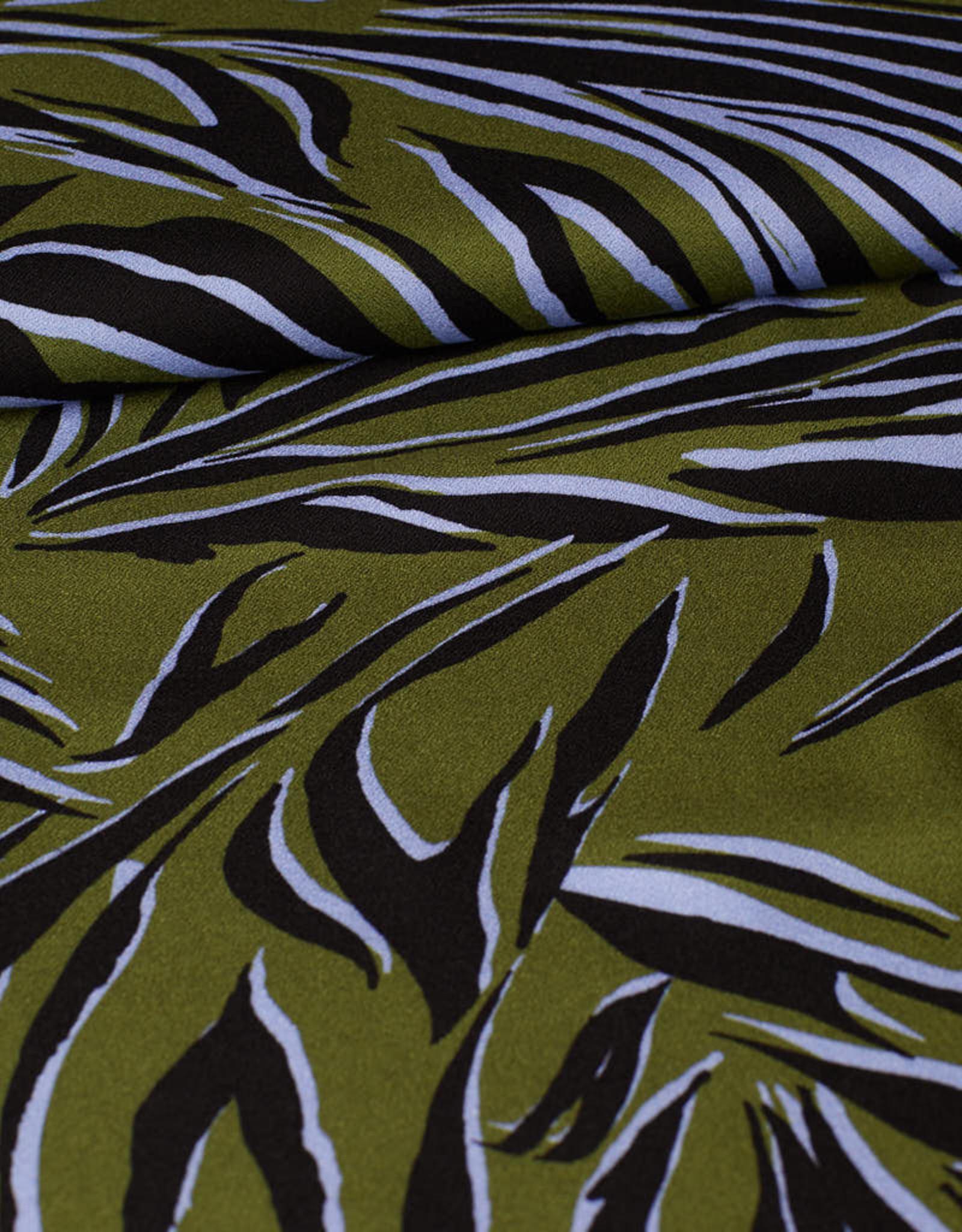 Viscose groen zebrastrepen