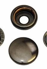 Drukknoop  oud nikkel 15mm