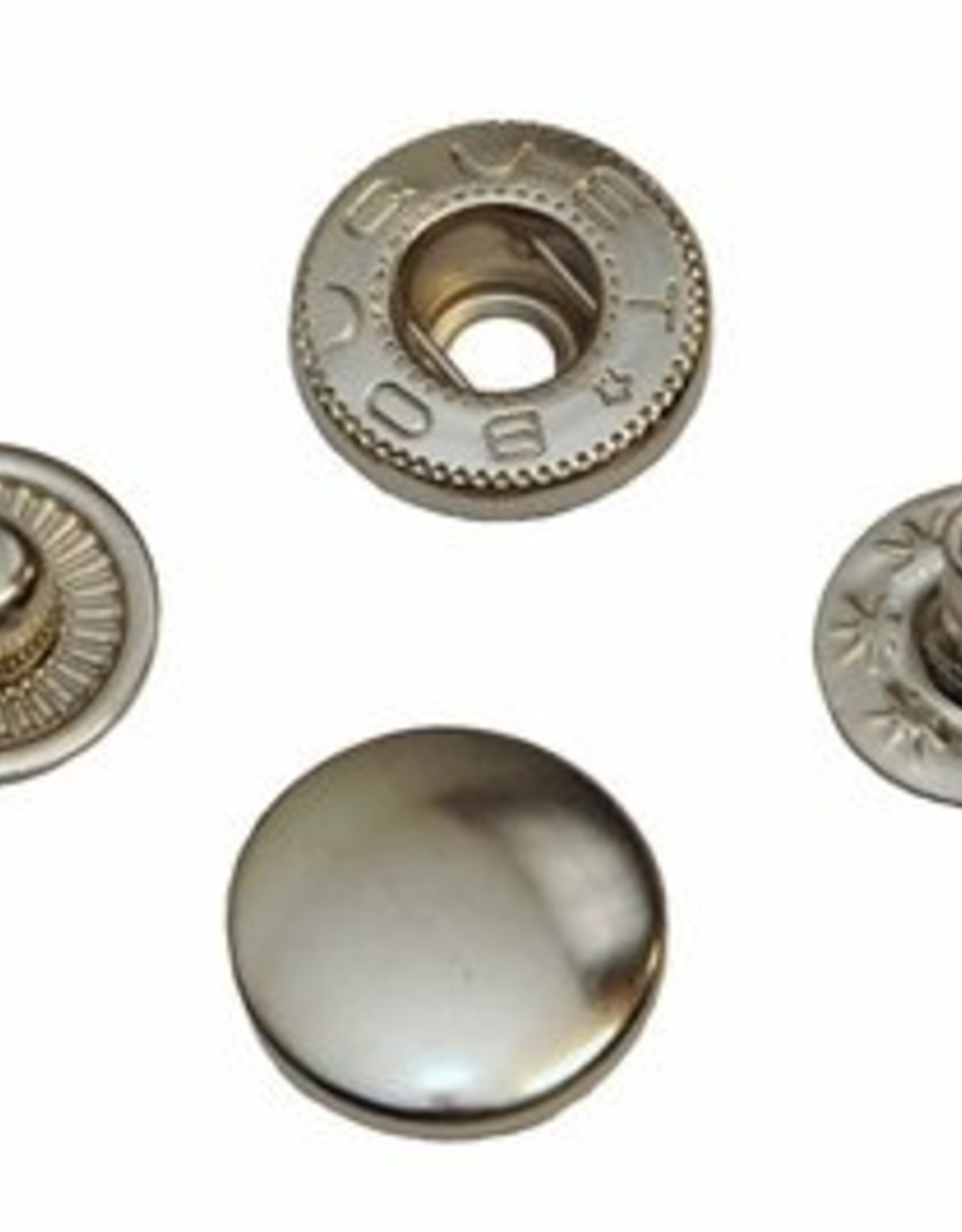 Drukknoop nikkel 15mm
