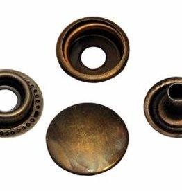 Drukknoop brons 15mm