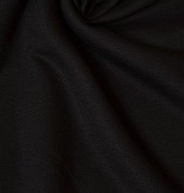 Viscose tricot brushed zwart