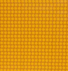 Gelamineerd katoen stars ochre/yellow