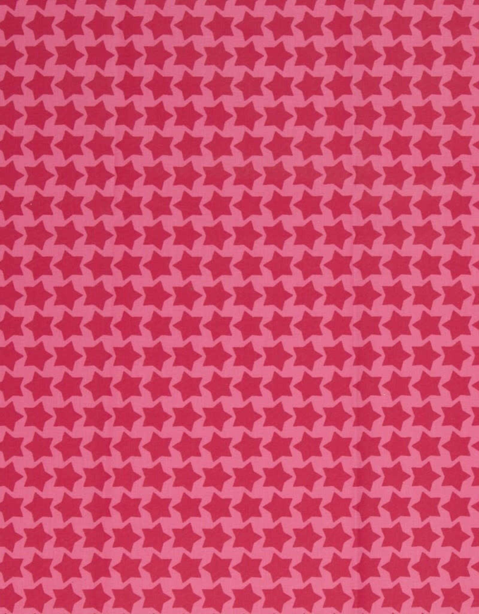 Gelamineerd katoen stars rosa/erika