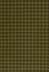 Gelamineerd katoen stars chartreuse/kaki