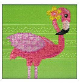 Diamond painting kit flamingo
