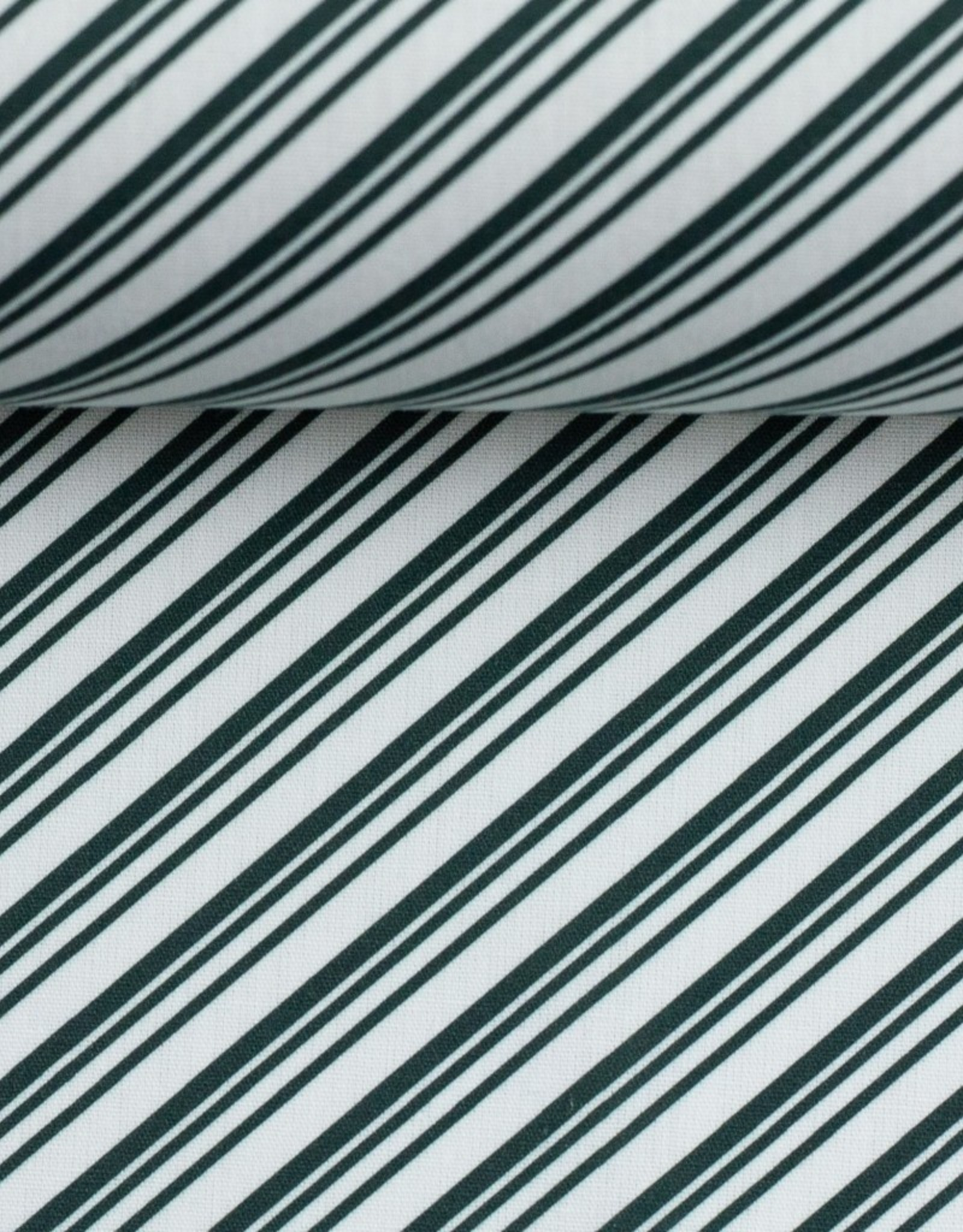 Katoen groen diagonaal