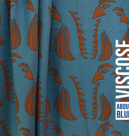 ABF WOL Parrot Blue viscose