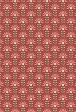 Graphic flowers ligt terra
