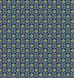 Graphic flowers navy