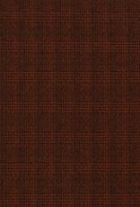 Polyester geruit steenrood