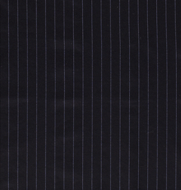 Polyesterviscose gestreept marine
