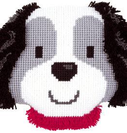 Kruissteeken koopkussen lief hondje