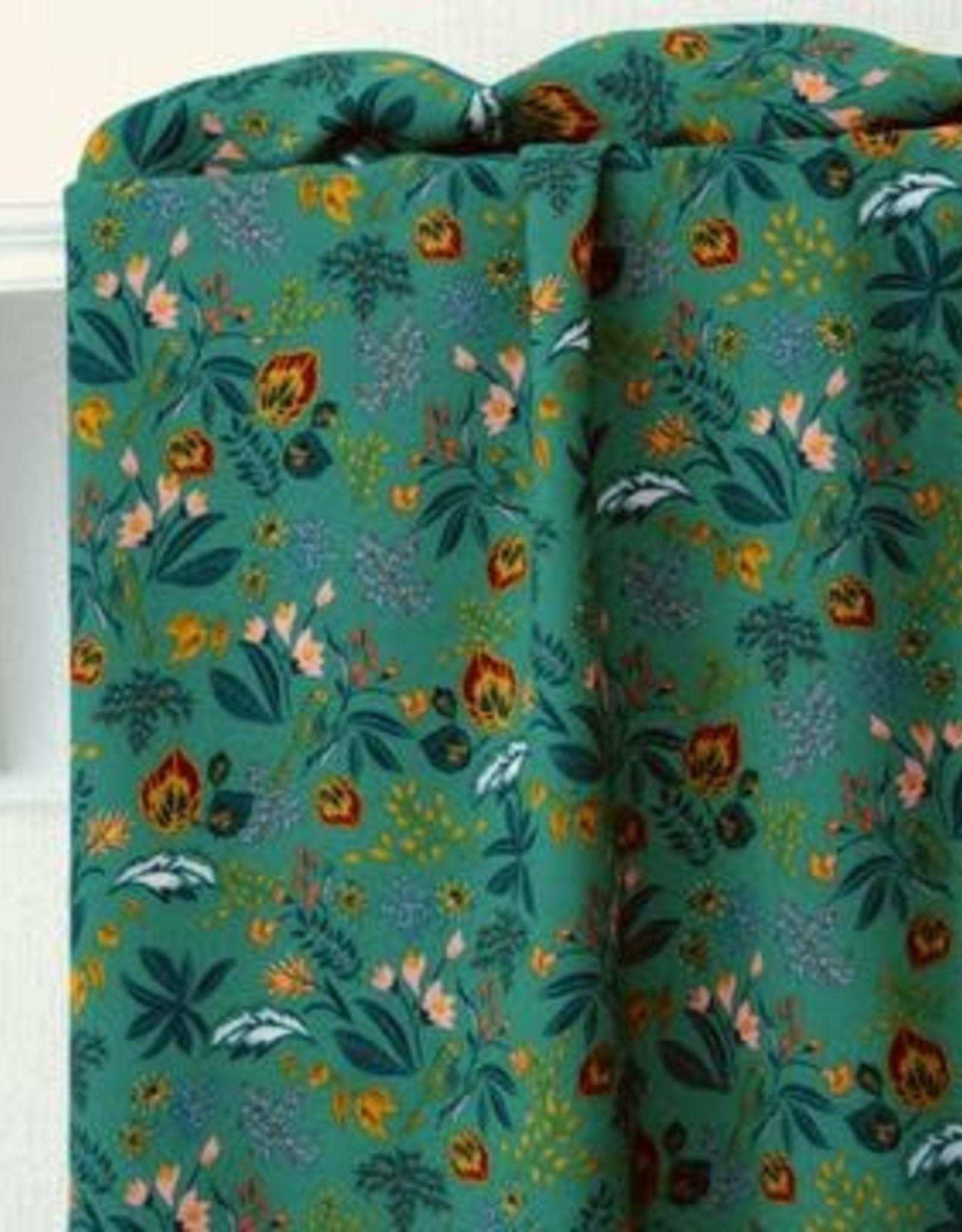 Atelier Jupe Grasgroene viscose met kleurrijke print