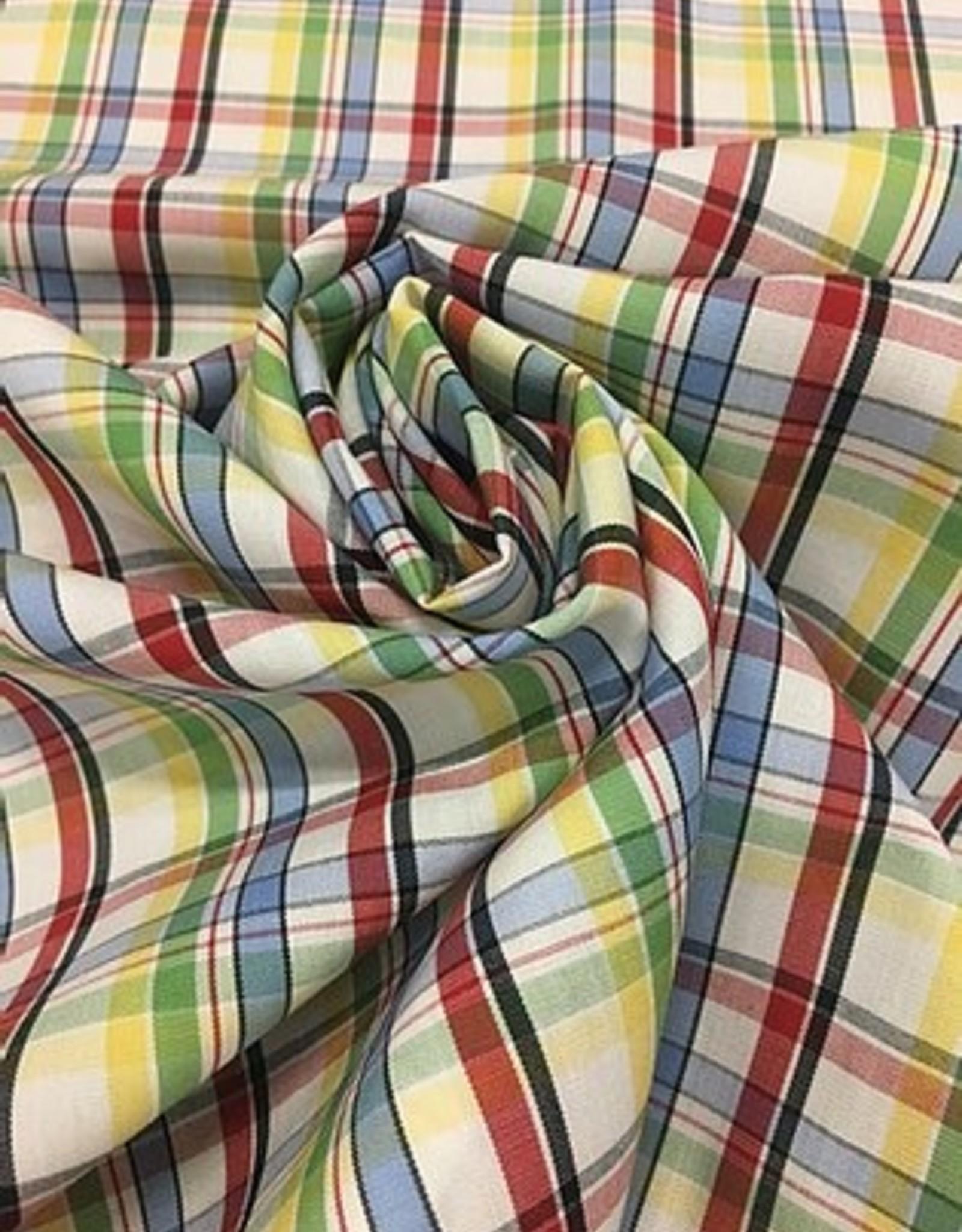 Katoen geruit rood blauw groen geel