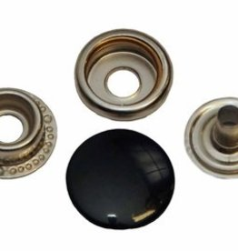 Drukknoop 15mm zwart