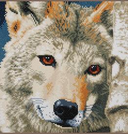 Diamond painting kit wolf