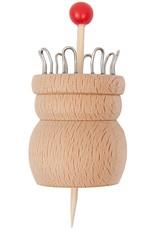Rico Design Breipopje hout 8 haakjes
