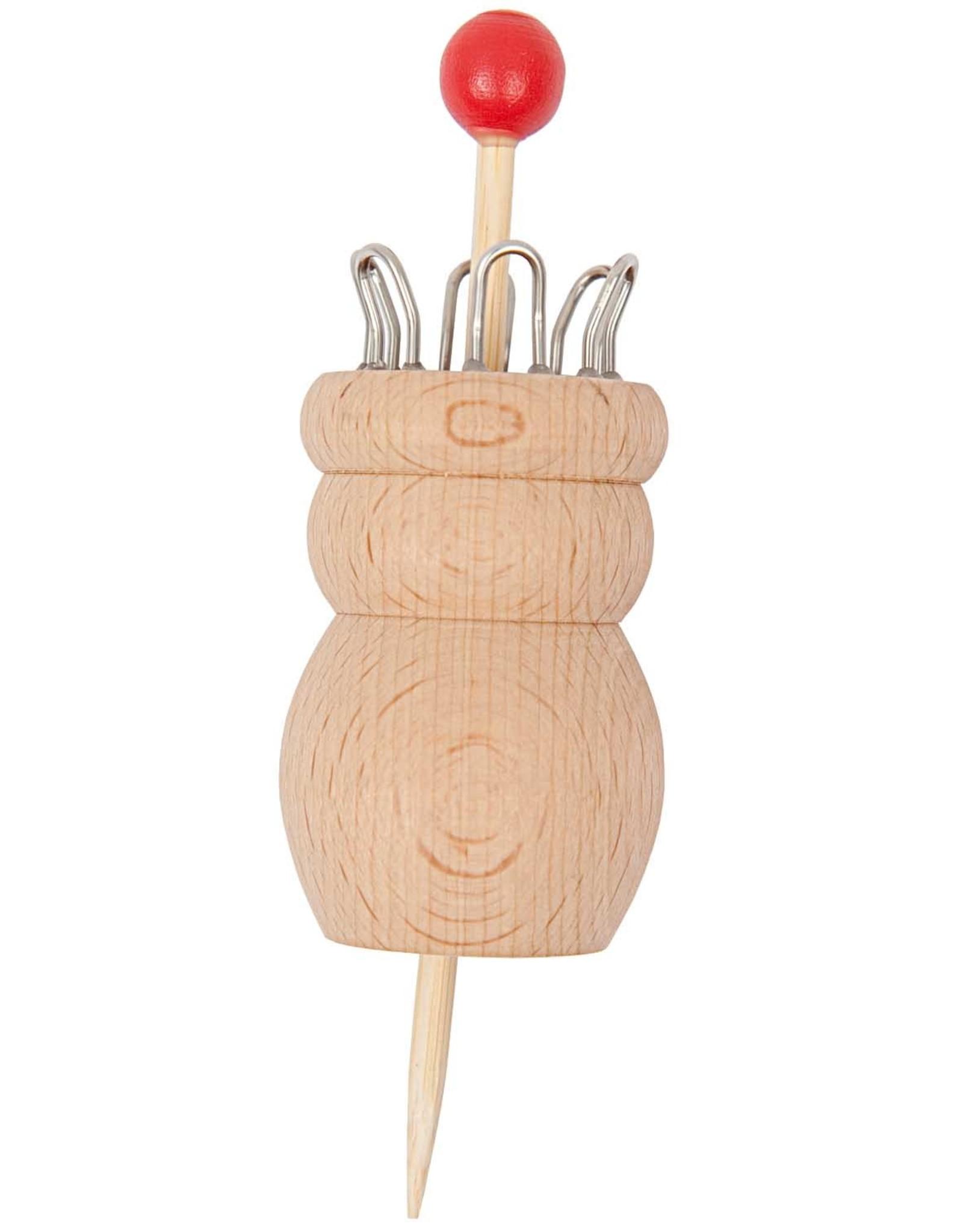 Rico Design Breipopje hout 6 haakjes