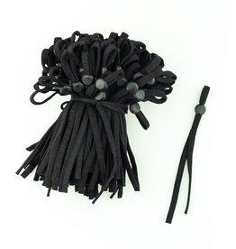 Verstelbare mondmasker elastiek zwart (per 3 paar)