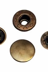 Drukknoop 12mm brons