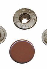 Drukknoop 12mm bruin