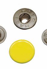 Drukknoop 12mm geel