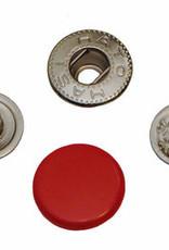 Drukknoop 12mm rood