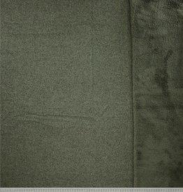 gebreid gedubbeld met fleece kaki