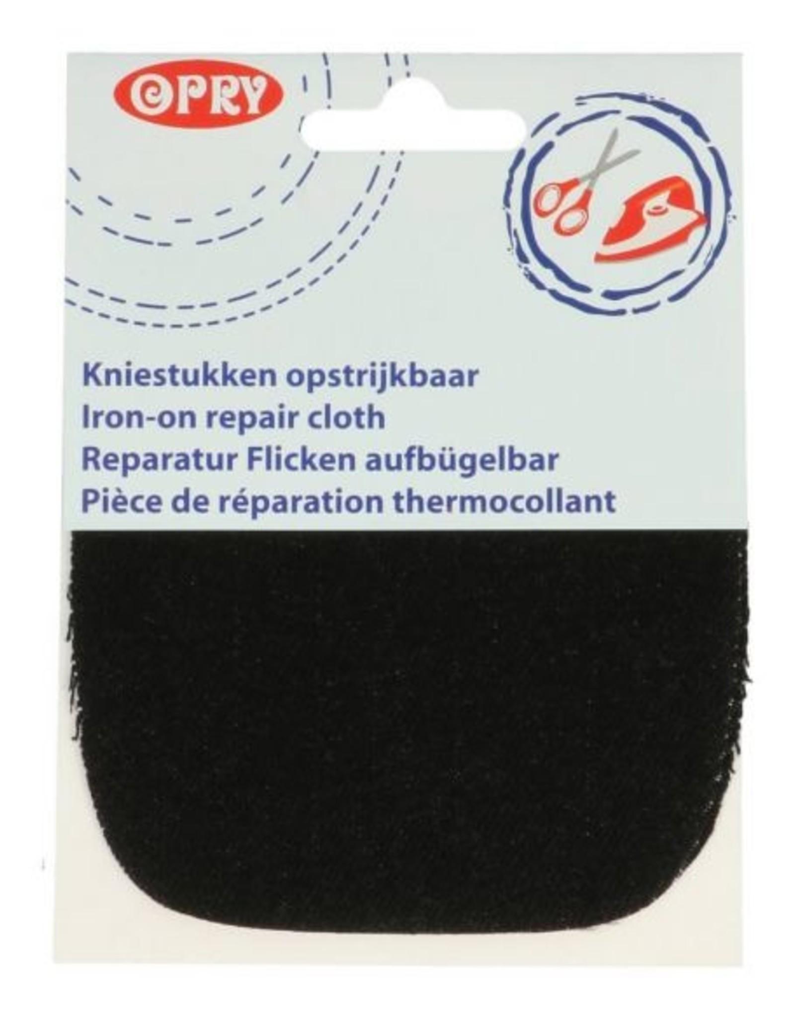 opry Kniestukken opstrijkbaar jeans zwart
