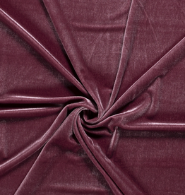 Fluweel stretch oud roze