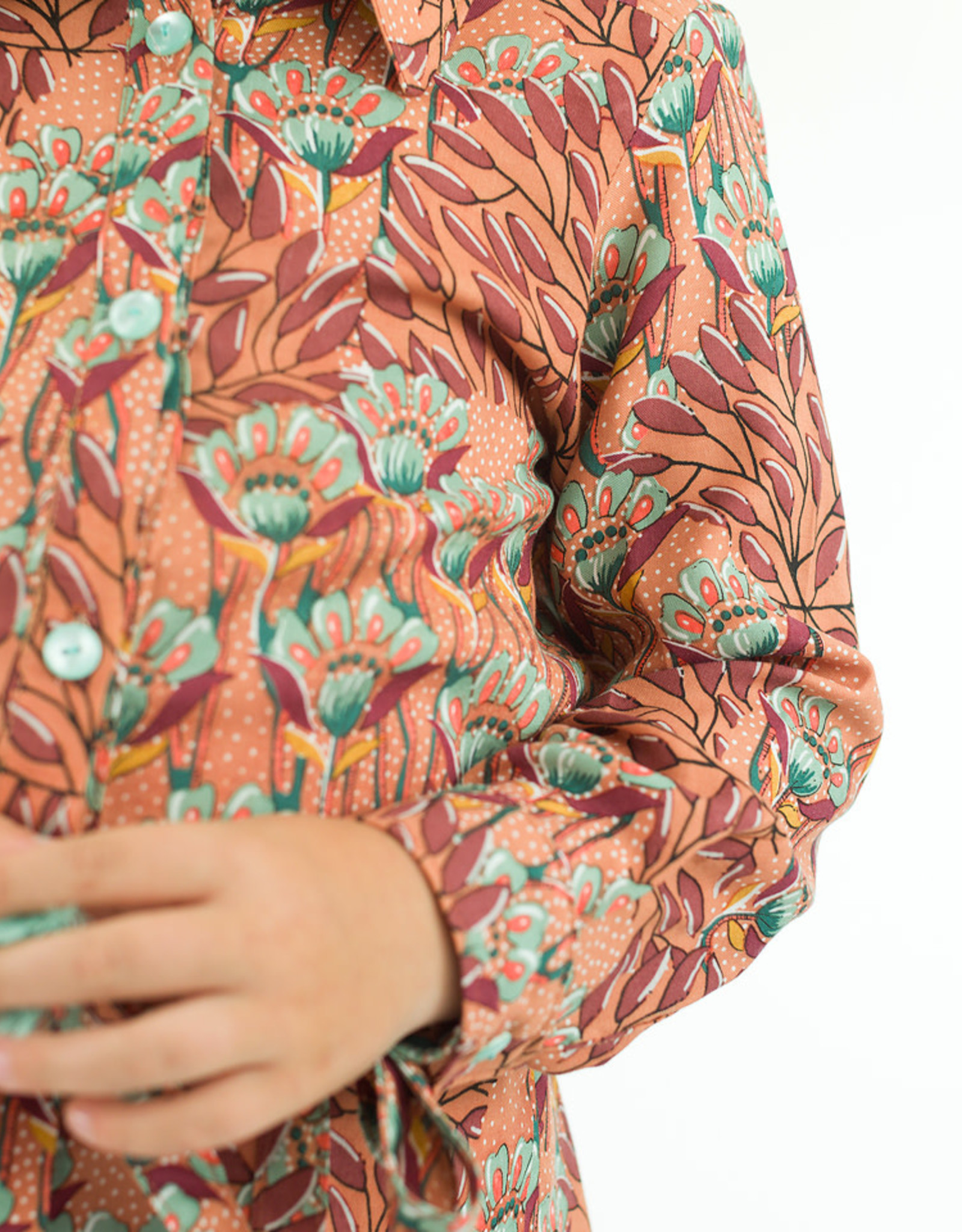 SYAS Gilly flowers viscose rayon