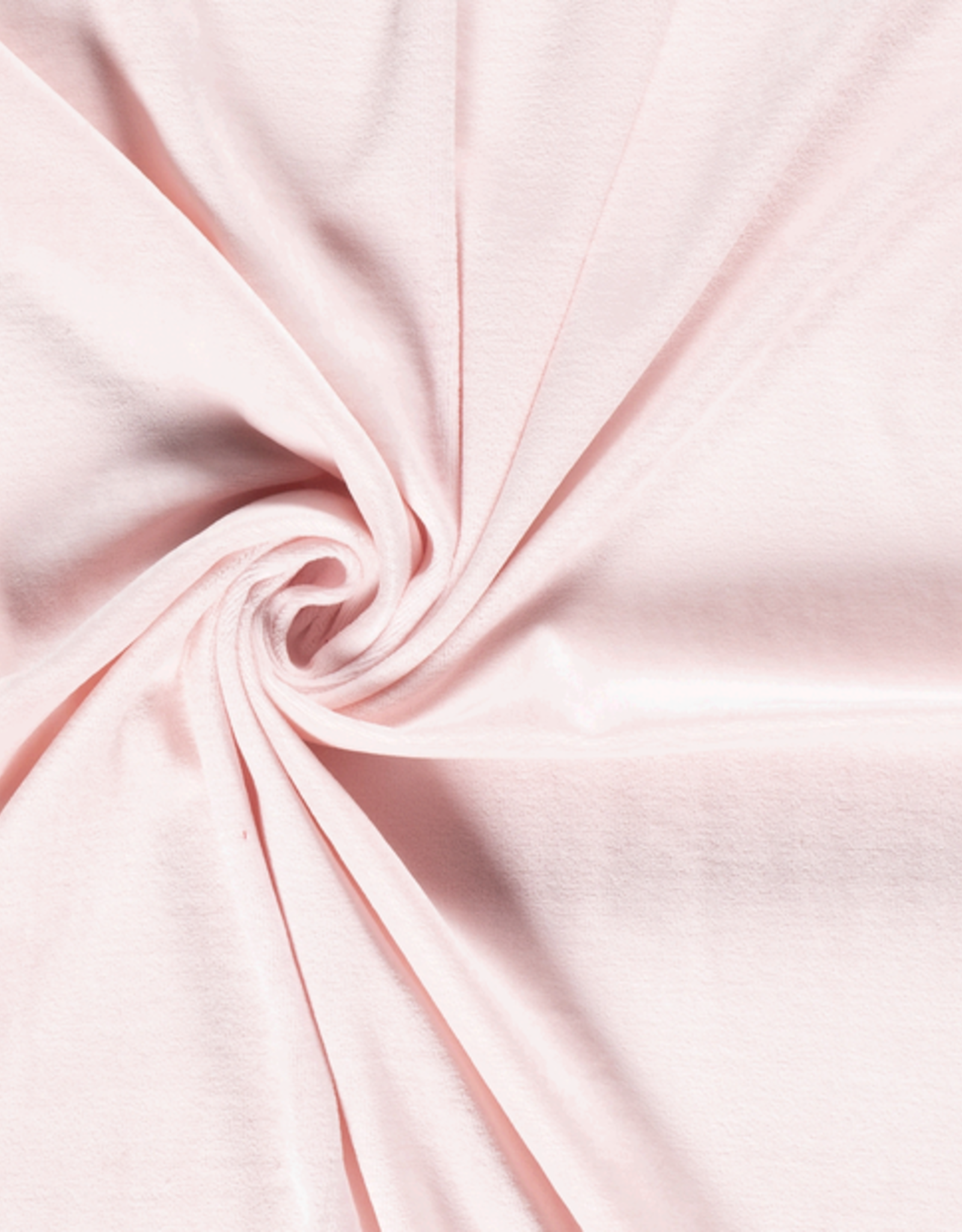 Nicky velours licht roze