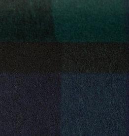 Italiaanse wol blauw groen geruit