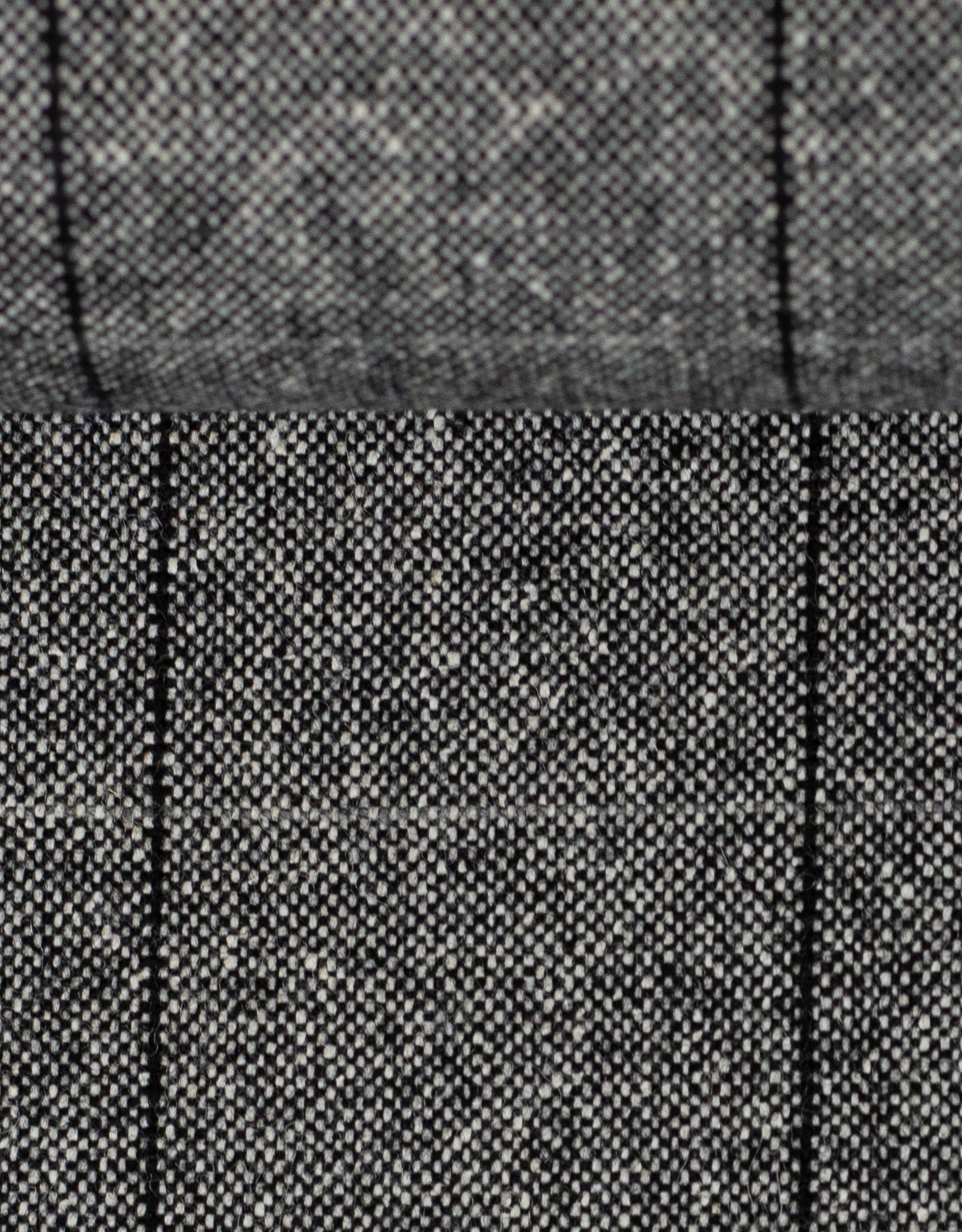 Italiaanse wol grijs geruit