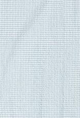 Seersucker check lichtblauw