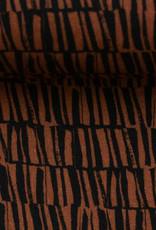 viscose linnen bruin zwart