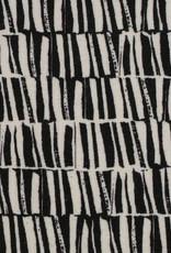 Viscose linnen zwart wit