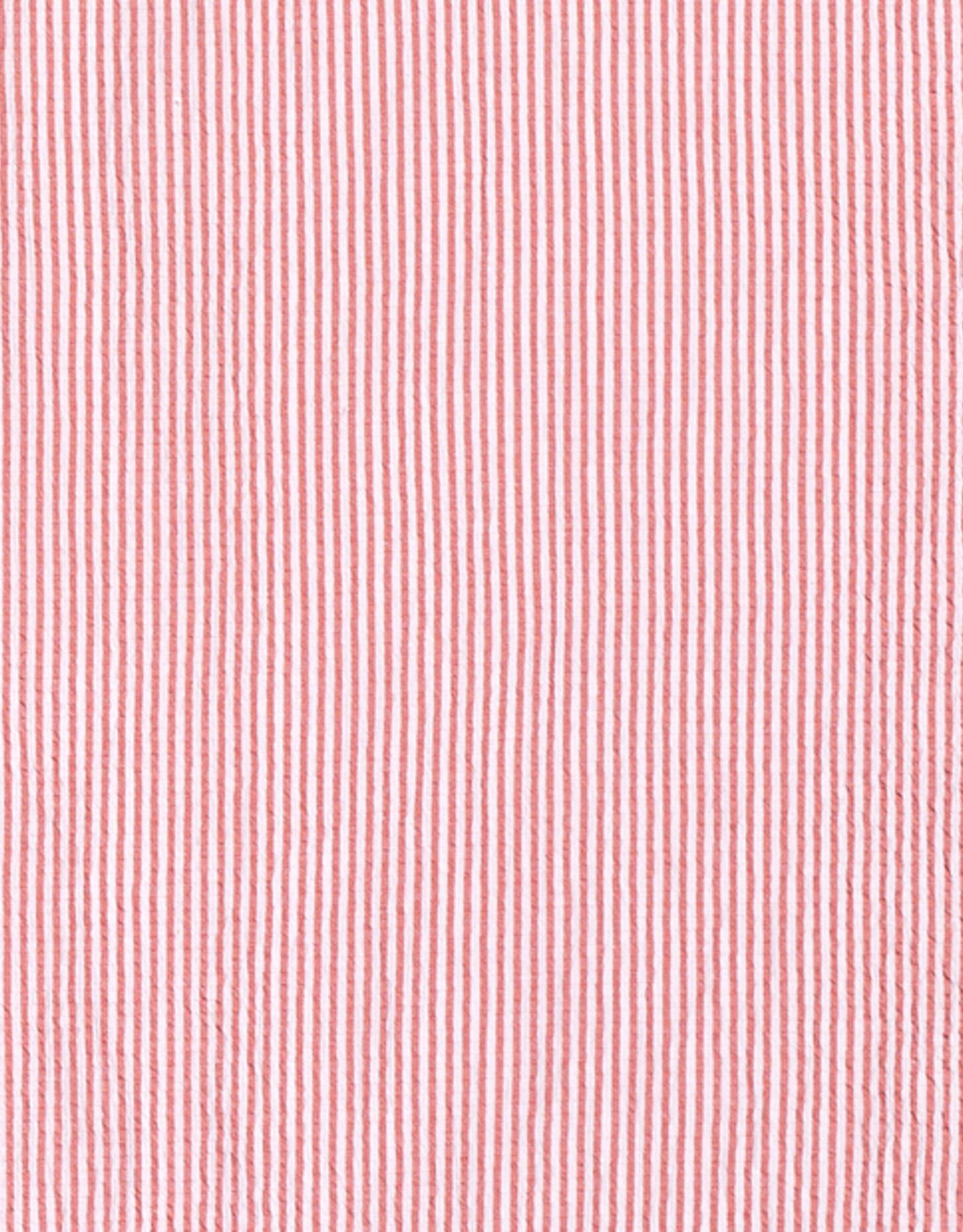 Seersucker gestreept rood