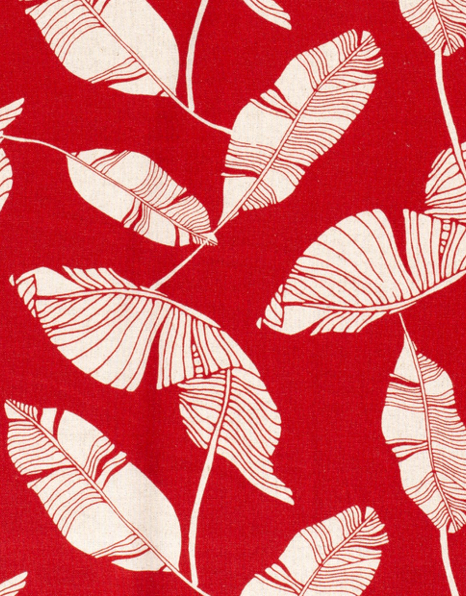 Linnenviscose rood bladeren