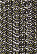 Katoen satijn abstract donkergroen