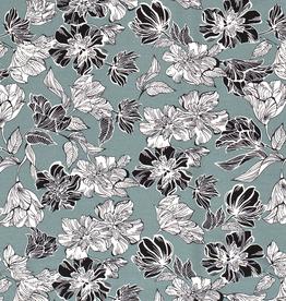 Quatro stretch mint bloemen