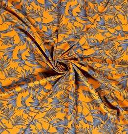 Quatro stretch oranje bladeren