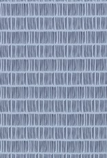 Tricot lichtblauw korte streepjes