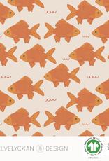 Elvelyckan Fish pond jersey cream