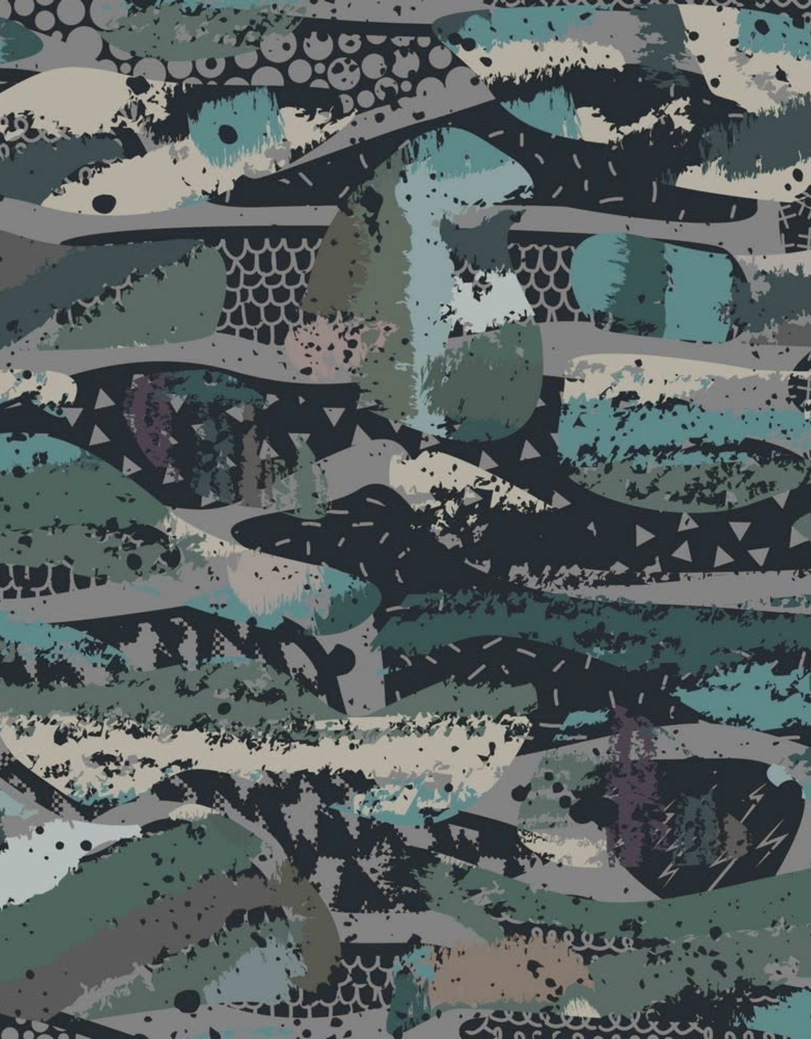 Poppy Camouflage black